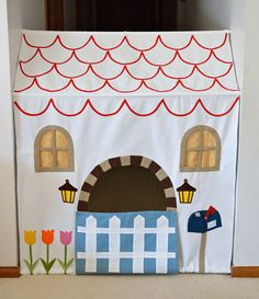 Tension Rod Hallway Tent - Indoor Play House for Girls