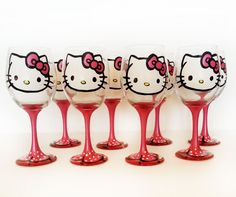 Hello Kitty wine glasses