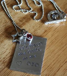 hand stamped metal jewelry   Must try!  #ecrafty @KD Eustaquio at eCrafty.com #stampedmetalblanks #jewelrysupplies  #stampedmetaljewelry #necklacesupplies #ballchainnecklaces #jumprings #metalstampingblanks