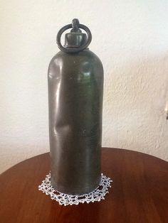 Antieke tinnen kruik-antique pewter hot water bottle-BEDWARMER