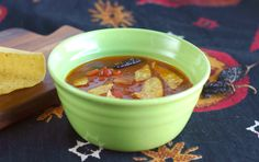 Now That's a Way To Serve Leftovers: Spicy Tortilla Soup & Smoky Salsa  #recipe #soup #salsa #spicy