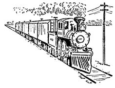 Step finished train perspective1 Drawing Trains in One Point Perspective with Easy Step by Step Tutorial