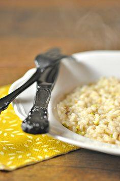 Risotto ai pistacchi di Bronte con burro aromatizzato al limone