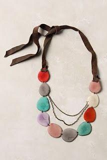 DIY- Anthropologie Inspired Necklace knock-off