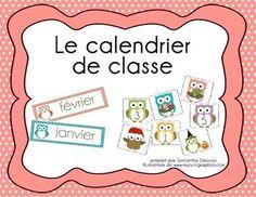 Le calendrier de classe-thème hibou!!
