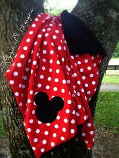 Mickey / Minnie Mouse Minky Blanket