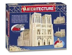 """The Matchitecture Notre Dame Cathedral matchstick kit includes everything needed to make this matchstick model kit.  Included are all the pre-cut card formers along with the glue, matchticks and full instructions.  These instructions will guide you through each stage of the construction until you finally achieve the finished product. We would highly recommend this Matchitecture Notre Dame Cathedral matchstick model kit.    Size: 840mm(33"""") long x 620mm (25.5"""") high."""