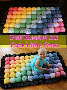 5 BEST BABY GIFTS OF THE YEAR :::::::::::::::::::::::::: Cozy Puff Blanket for Kids #DIY