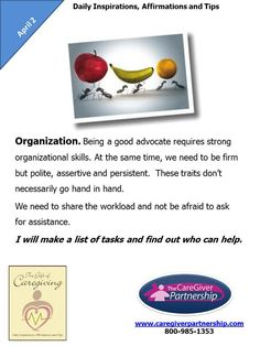 April 2: Organization #caregiver
