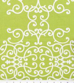 Green damask fabric