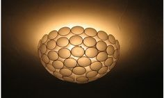 Plastic cup lampshade