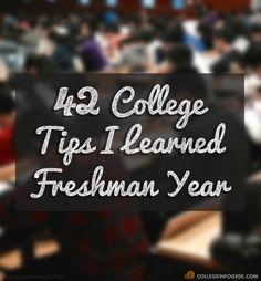 42 College Tips I Learned My Freshman Year