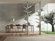 bookshelf design, home interiors, front rooms, book storage, organic design, modern buildings, tree branches, book collection, home interior design