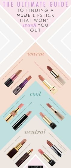 how to find the perfect nude lipstick for your skin tone // amazing guide!