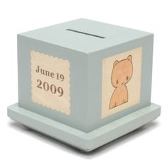 Personalized Wooden Block Bank