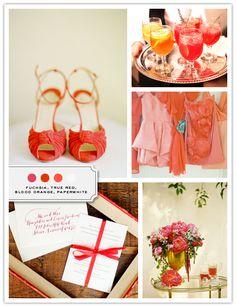 Color Palette: Fuchsia, True Red, Blood Orange, Paperwhite