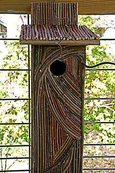 Twig birdhouse by Pandorea