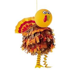 Turkey Pinata thanksgiving turkey, thanksgiving crafts, idea, turkey pinata, thanksgiv craft, fall, turkey craft, parti, kid