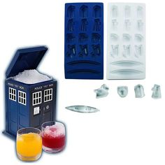 tardi ice, ice cubes, buckets, tardisshap ice, ice trays, doctor who, doctors, ice cube trays, ice bucket