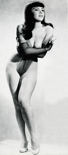 Burlesque dancer Julie Gibson 1955