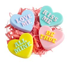 Indulge in a sweet-smelling bath with Pier 1 Heart-Shaped Soaps
