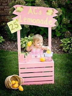 lemonade stands, 4th birthday, birthday parties, photo props, first birthdays