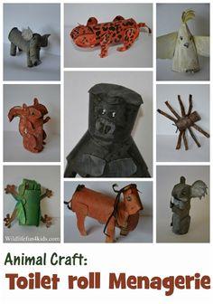 Animal Kids Craft: Toilet Roll Menagerie