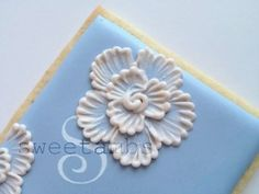 Brush Embroidery cookie tutorial