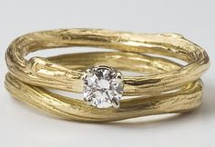 Ideal Bridal Twig Ring Set for Her Engagement Ring and by bmjnyc