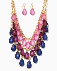 North Shore Tiered Necklace Set   UPC: 410007042284 #charmingcharlie #COTM
