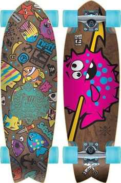 "Globe Neff Sea Pals 30"" Cruiser Skateboard Complete (71746)  The Neff Sea Pals 30"" Cruiser from Globe is a sick collaboration between Globe and Neff."
