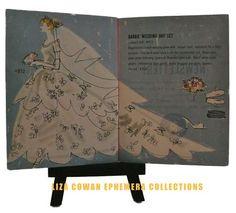 Barbie Booklet, 1958. Wedding Dress. Liza Cowan Ephemera Collections