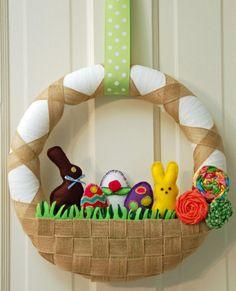 Easter Basket Wreath