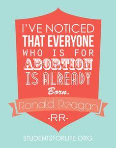 pro-life, prolife, Ronald Reagan