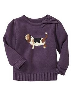 Intarsia dog graphic sweater | Gap