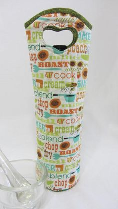 Chef Inspired WineBag OliveOil GiftBag Culinary Gift by Wine2The9s, $22.50
