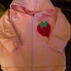 Infant strawberry hoodie