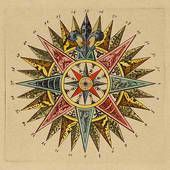 Antique compass rose