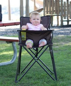 Chocolate Travel High Chair | zulily