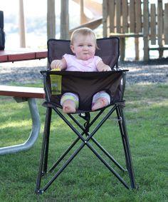 Chocolate Travel High Chair | zulily