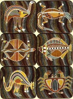 Australian aboriginal artworks.