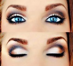 wedding eyes, wedding eye makeup, eye colors, stunning eyes, pretti eye, blue eye makeup, beauti, bride hairstyles, eye liner