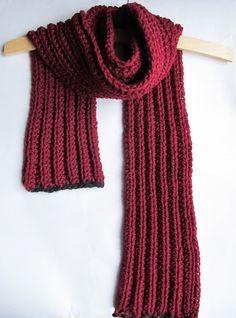 {Crochet Chunky Scarf-Free Pattern}