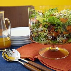 Thanksgiving recipes: Green Salad with Roasted Squash, a delicious, savory fall salad.