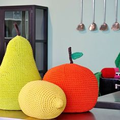 Giant Crochet Fruit for the kids room