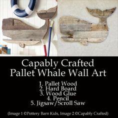 Pallet Whale Art (Pottery Barn Kids Prop)