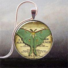 Luna Moth pendant charm resin pendant  resin by thependantemporium, $8.95