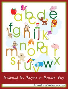 """National """"No Rhyme or Reason Day"""" 