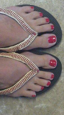 My new design for baseball flip flops!