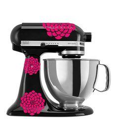 Loving this Pink Zinnia KitchenAid Mixer Decal Set on #zulily! #zulilyfinds